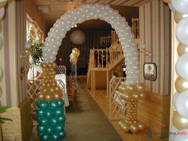 Арка из шампанского - фото 28620 Фабрика Шаров - оформление воздушными шарами