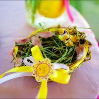 Гнездышко для колец с желтыми птичками