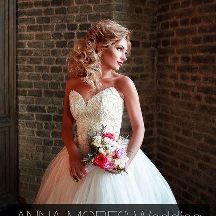 Свадебное платье с жемчугом от Anna Mores