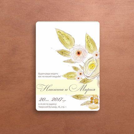 Пригласительное на свадьбу - Flower Dream