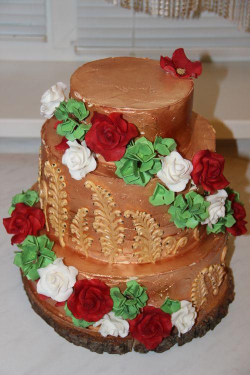 Фото новинки ярусного торта