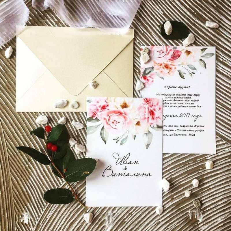 Фото 19095174 в коллекции Портфолио - Свадебные приглашения от Нины Лыковой