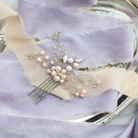 Кремовый свадебный гребень под заказ