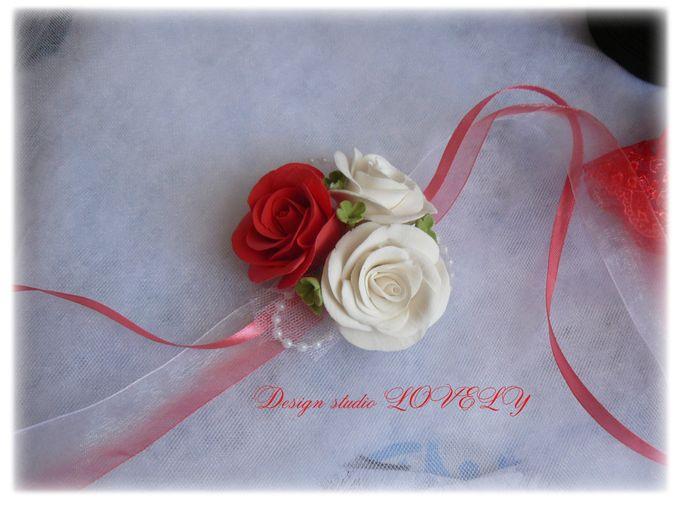 Браслеты цветочные подружкам невесты своими руками