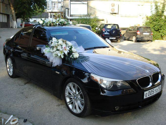 Украшение машин на свадьбу своими руками фатин