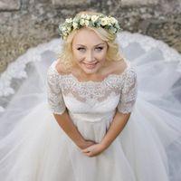 """Невеста Ирина в платье """"Бьянка"""" от Galerie D'Art"""