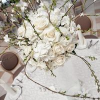 Цветочная композиция. Декор гостевых столов. Весна