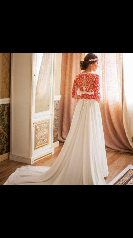 Казахское свадебное платье на кыз узату - фото 9050996 Салон казахских свадебных платьев Золотая пуговица