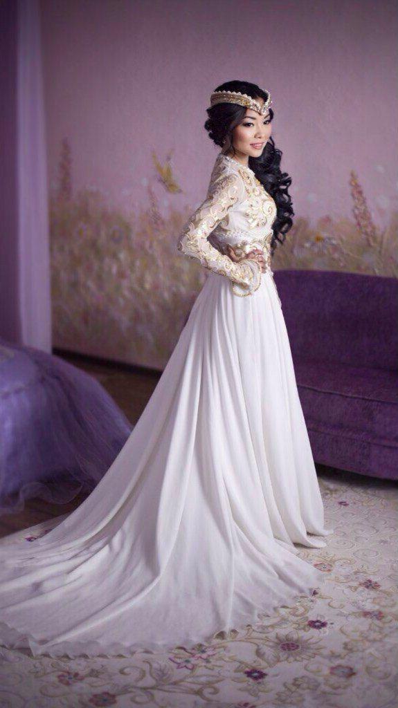 Казахское свадебное платье на кыз узату - фото 9051008 Салон казахских свадебных платьев Золотая пуговица