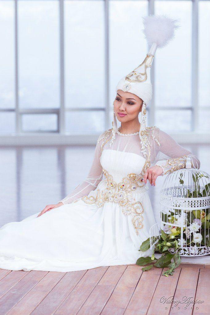 Казахское свадебное платье на кыз узату - фото 9051026 Салон казахских свадебных платьев Золотая пуговица