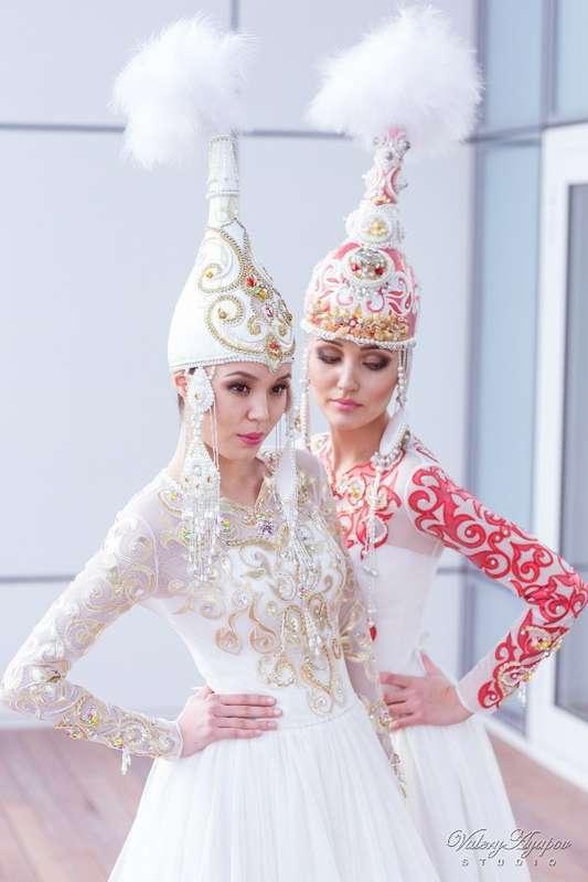 Казахское свадебное платье на кыз узату - фото 9051028 Салон казахских свадебных платьев Золотая пуговица