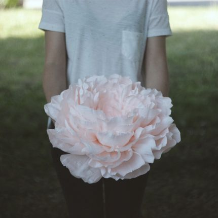 Большие бумажные цветы, диаметр 40 см, цена за 1 шт