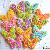 Пряники-бабочки (медовые, имбирные, шоколадно-миндальные)