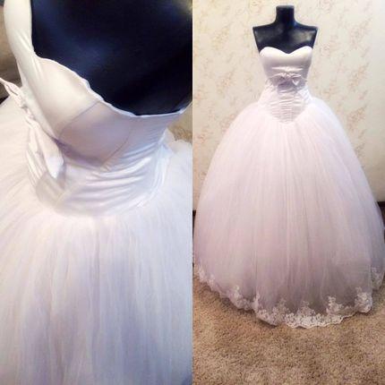 Нежное свадебное платье