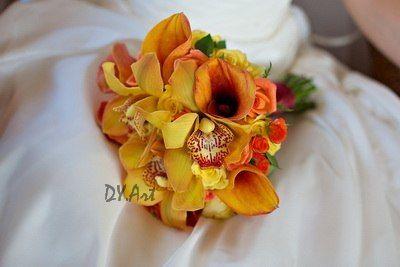 Фото 9604490 в коллекции Букет невесты, свадебный букет, бутоньерка, браслет - DY.Art