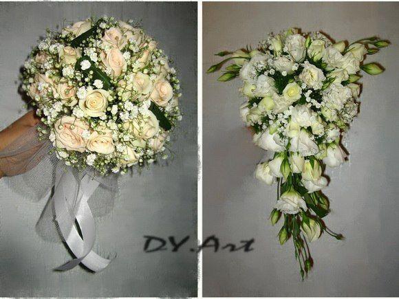 Фото 9604504 в коллекции Букет невесты, свадебный букет, бутоньерка, браслет - DY.Art