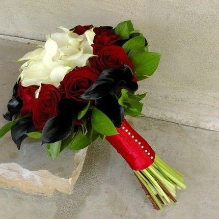 Букет невесты с лилиями и герберами