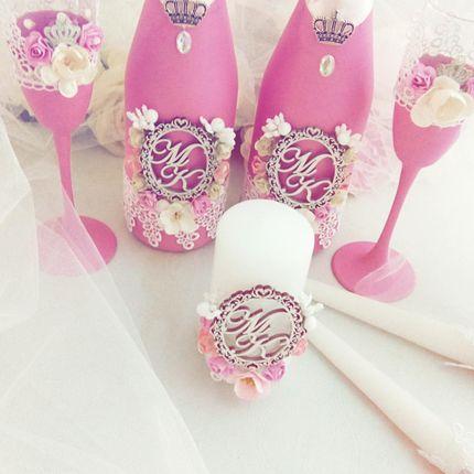 Декор шампанского и бокалов