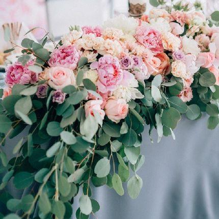 Оформление президиума цветами
