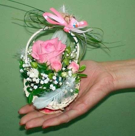 Букет из цветов в корзине своими руками пошаговое для начинающих