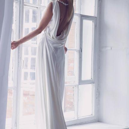 Свадебное платье из натурального шёлка