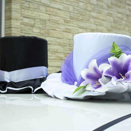 Шляпы на свадебную машину