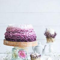"""Свадебный торт """"Омбре"""", оформление мастикой."""