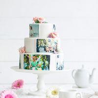 Свадебный торт с фотопечатью.