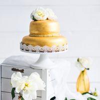 Свадебный торт металлик.