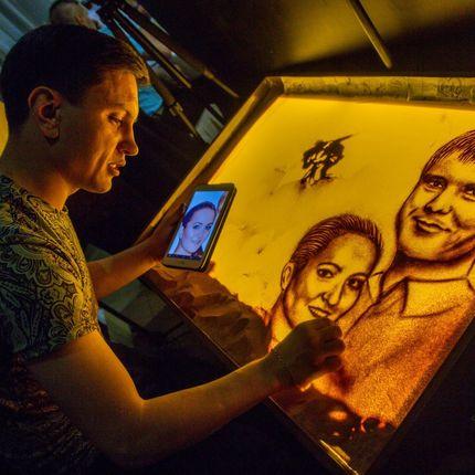 Песочное шоу с портретами