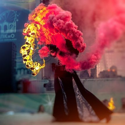 Цветной дым в Рязани