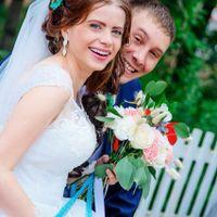 Свадебный букет для веселой невесты Ольги. 12.08