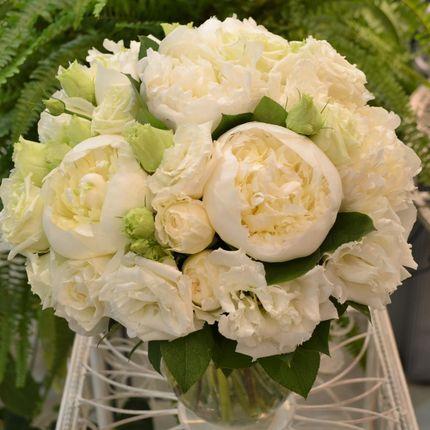 """Букет невесты """"Белые пионы"""""""