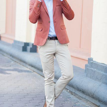 Теракотовый пиджак