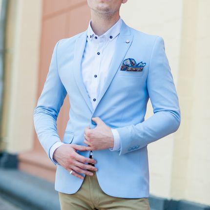 Пиджак небесного цвета