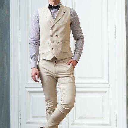 Жилет + брюки пастельного оттенка