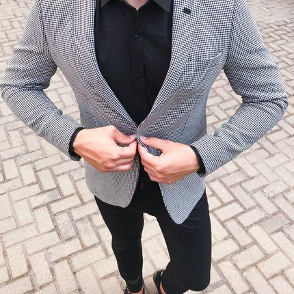 Пиджак для жениха серый