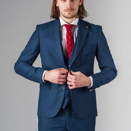 Синий костюм-тройка