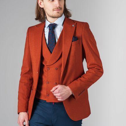 Терракотовый комплект из пиджака и жилета