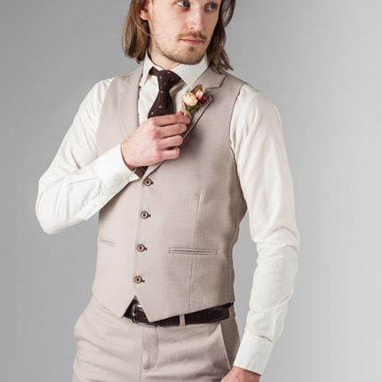 Комплект из жилета и брюк
