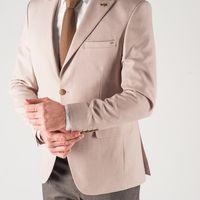 Бежевый мужской пиджак