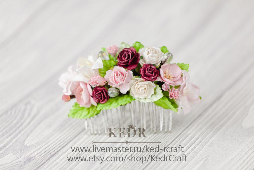 Фото 10569890 в коллекции цветочный гребень невесты - Авторская мастерская аксессуаров Kedr