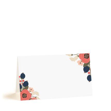 Рассадочные карточки с красными цветами, цена за 25 шт.