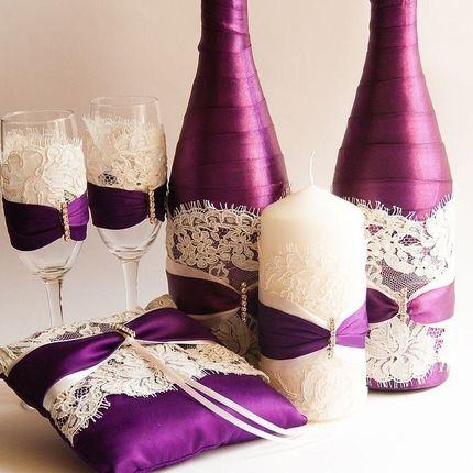 "Бокалы для молодоженов ""Фиолет"""