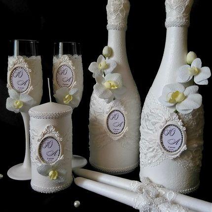 """Набор """"Белая орхидея"""", из 7 предметов"""