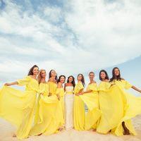Солнечные подружки невесты со свадьбы Александра и Натальи Местоположение: Кипр, Айя-Напа, пляж Посейдон