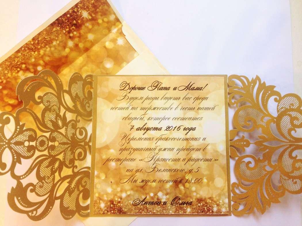 """Фото 11880084 в коллекции Примеры индивидуально разработанных приглашений - Студия полиграфии """"Cute wedding"""""""