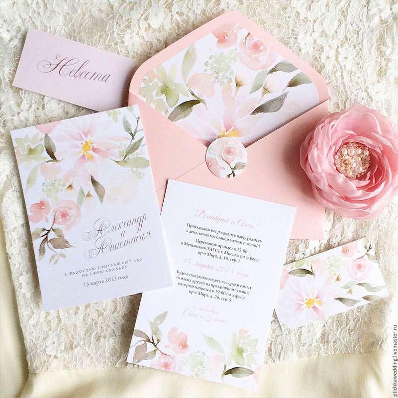 """Фото 12571208 в коллекции Примеры индивидуально разработанных приглашений - Студия полиграфии """"Cute wedding"""""""