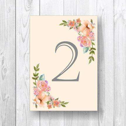 "Номер стола ""Spring Flower"""