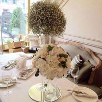 Оформление гостевых столов за 4200₽ #nevskyflorist#оформлениеживымицветами#гостевыестолы#гортензии#